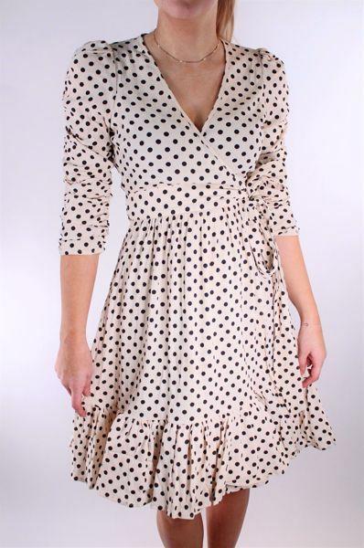 Bilde av TiMo Bubble Viscose Wrap Dress